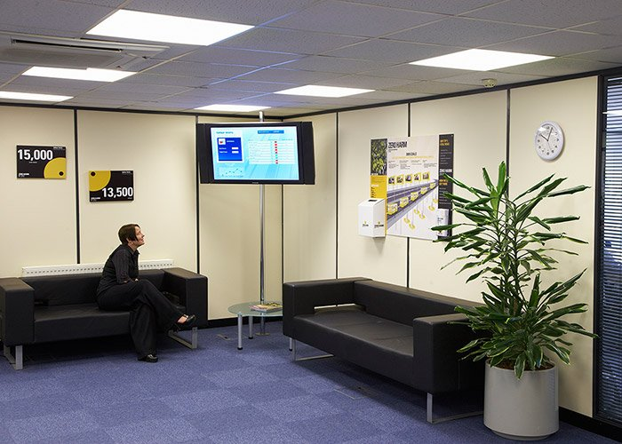 Corporate Digital Signage at Balfour Beatty Plant & Fleet Services, UK