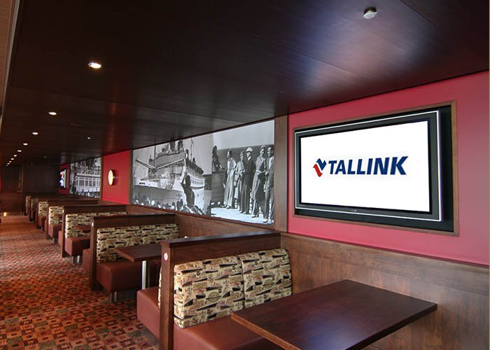 Entertainment Digital Signage at Tallink Star Shuttle, Finland