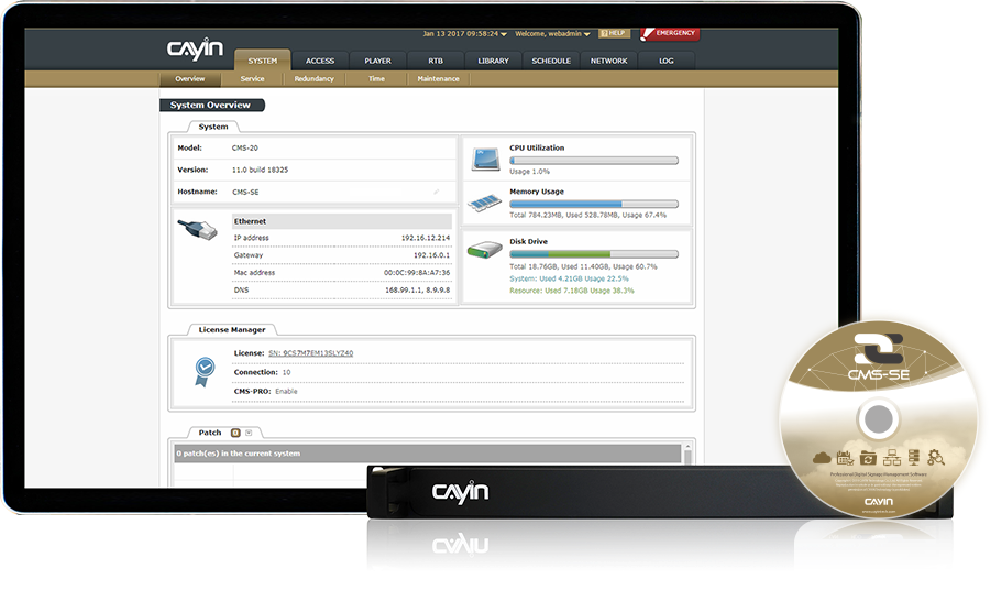 CAYIN Digital Signage Content Management Server