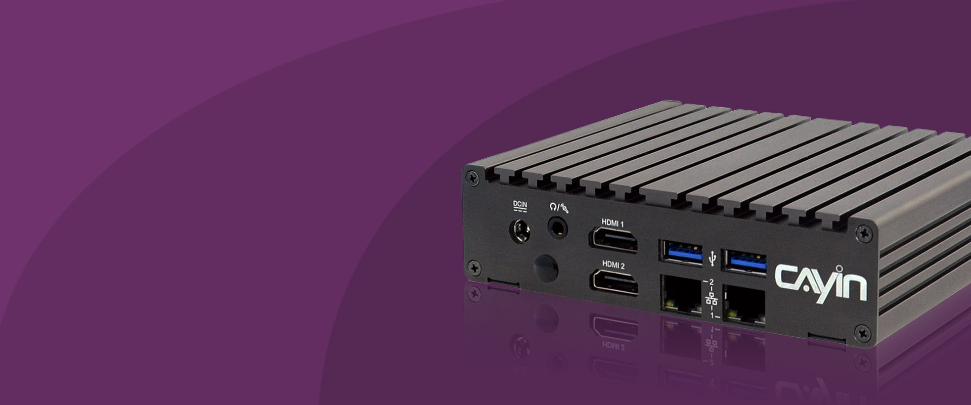 Front Shot of SMP-2210 Compact 4K UHD Digital Signage Player